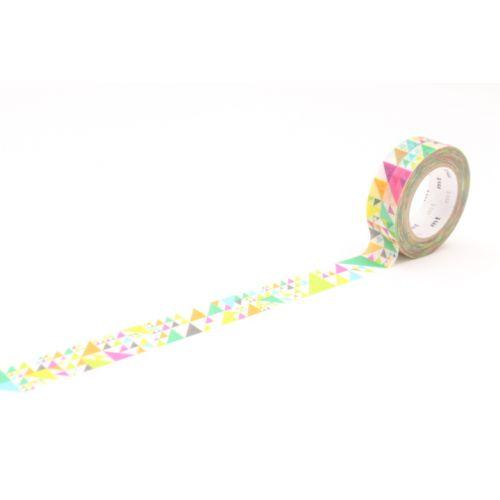 mt / Dizajnová samolepiaca páska Sankaku pink
