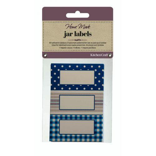 Kitchen Craft / Sada lepiacich štítkov na zaváraniny Blue - 30 ks