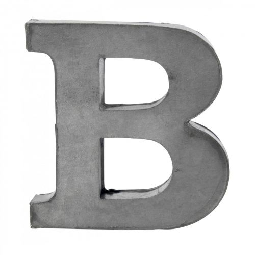 MADAM STOLTZ / Plechové písmeno B, 5,5 cm