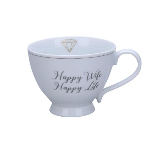 Krasilnikoff / Hrnček Happy Wife 450ml