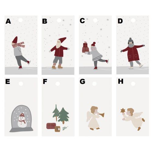 IB LAURSEN / Papierový štítok na darček Christmas