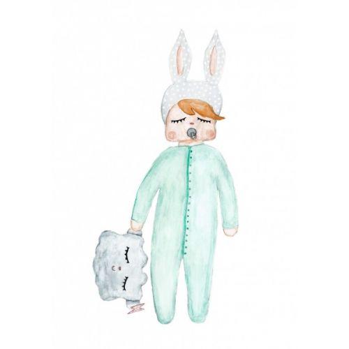 miniroom / Plagát do detskej izby Rabbit Cloud