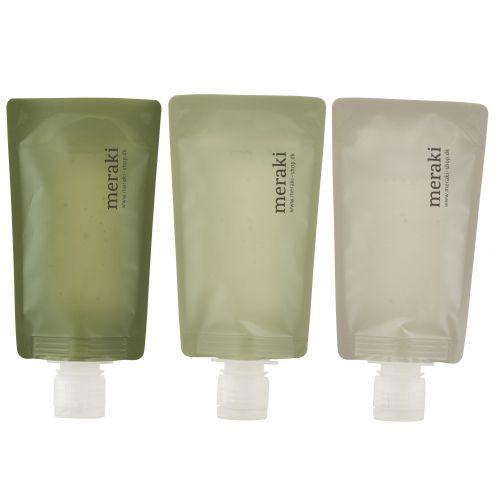 meraki / Cestovné fľaštičky - 3x98 ml