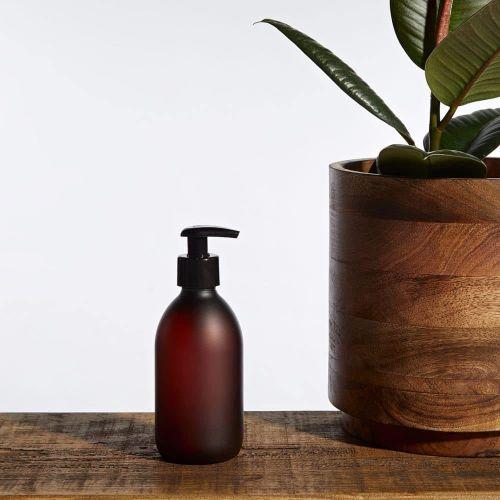 KUISHI / Plastový zásobník na mydlo s pumpičkou Amber Matte 300 ml