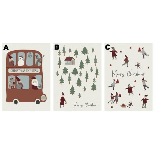 IB LAURSEN / Vianočné prianie Merry Christmas 10,5×14,8 cm
