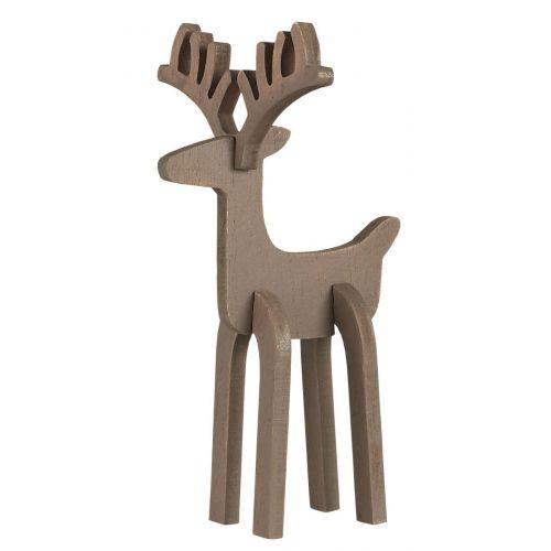 IB LAURSEN / Drevený sob Reindeer Rudolf Small