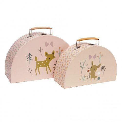 PETIT MONKEY / Detský kufrík Deer & Bunny