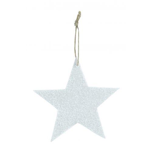 House Doctor / Trblietavá závesná hviezdička White Glitter 8 cm
