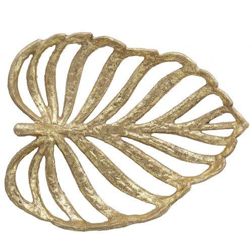 Bloomingville / Dekoratívna železná misa Gold Leaf