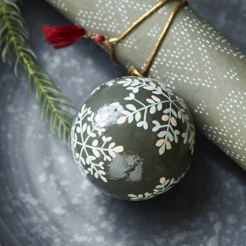 House Doctor / Vianočná ozdoba Mache Green 5 cm