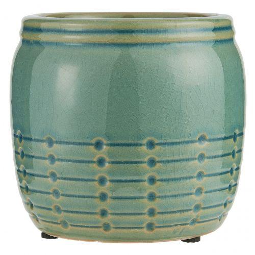 IB LAURSEN / Keramický obal na kvetináč Pattern Green Menší