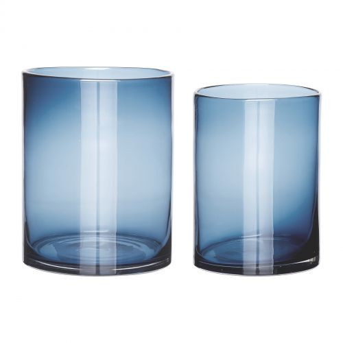Hübsch / Sklenená váza Simple Blue