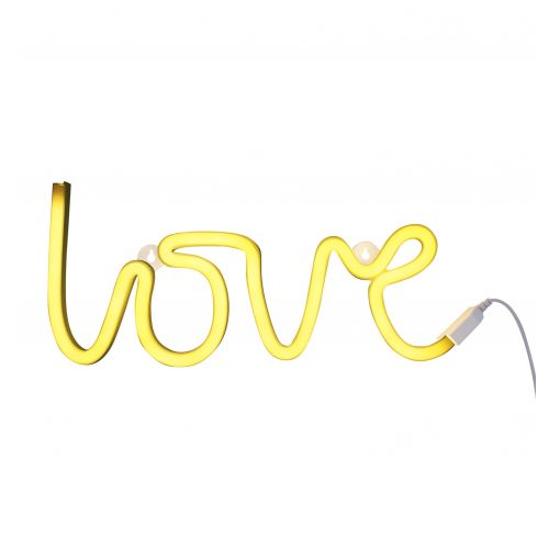 A Little Lovely Company / Neonové LED světlo Love Yellow