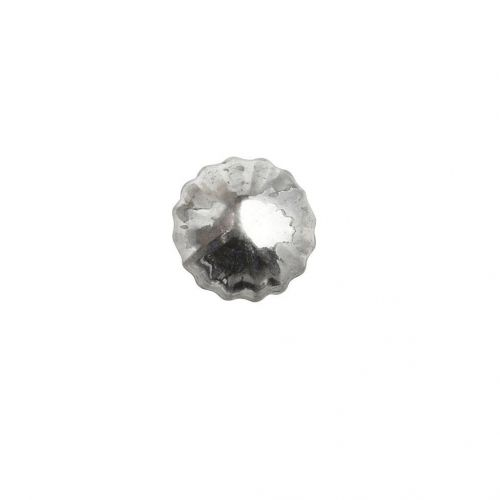 Hübsch / Sklenená úchytka Silver grooves
