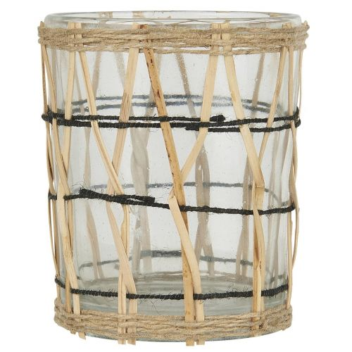 IB LAURSEN / Sklenený svietnik Bamboo Braid 9,7 cm