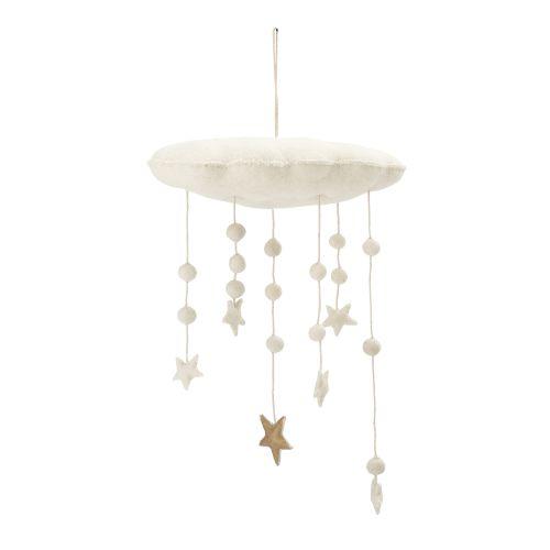 Bloomingville / Vlnená závesná dekorácia White Star