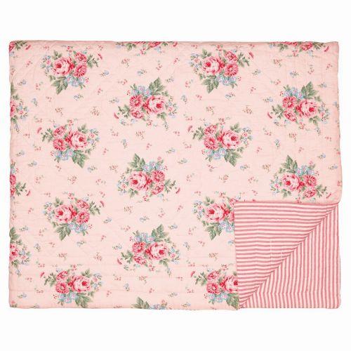 GREEN GATE / Prešívaný prehoz Marley Pale pink 140x100