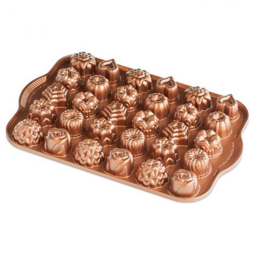 Nordic Ware / Hliníková forma na 30 mini tortičiek Copper