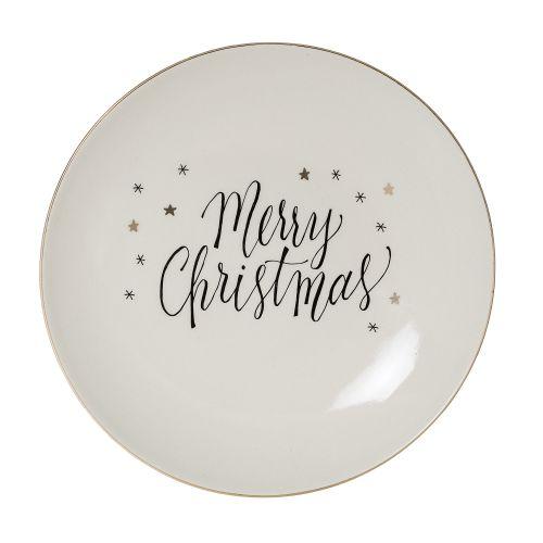 Bloomingville / Keramický tanier Noel 20 cm