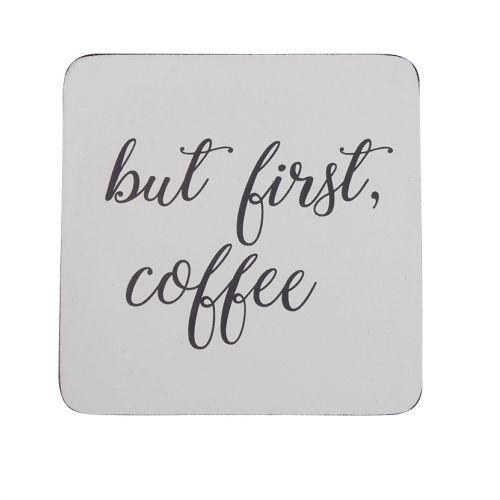 Krasilnikoff / Podložka pod hrnček But First Coffee