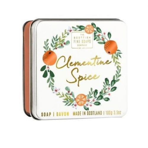 SCOTTISH FINE SOAPS / Mydlo v plechovej krabičke Clementine Spice 100 g