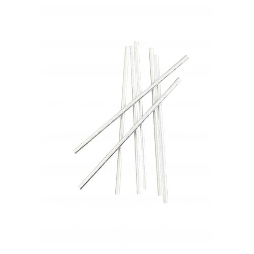 MADAM STOLTZ / Papierové slamky Silver - 50ks