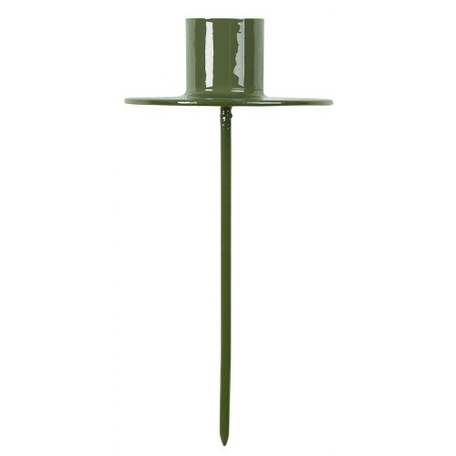 IB LAURSEN / Zapichovací svietnik na vysokú sviečku Green - väčší