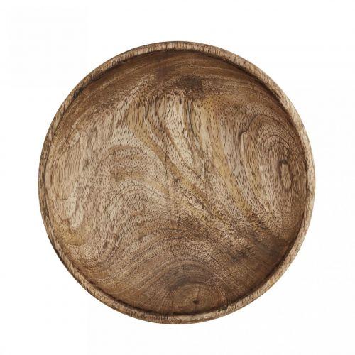 MADAM STOLTZ / Drevený tanier Mango Natural