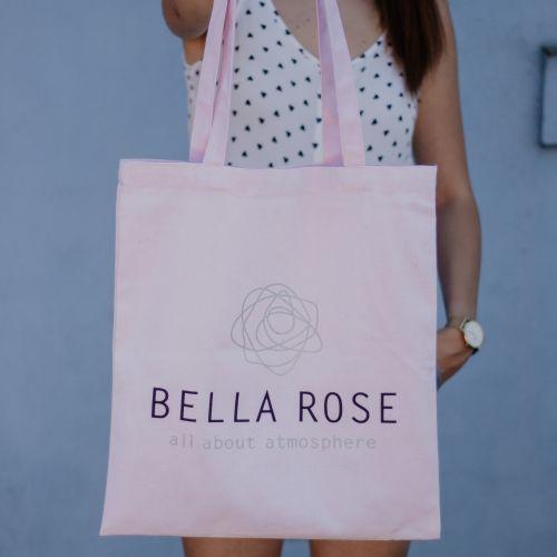 Bella Rose / Plátená taška Bella Rose