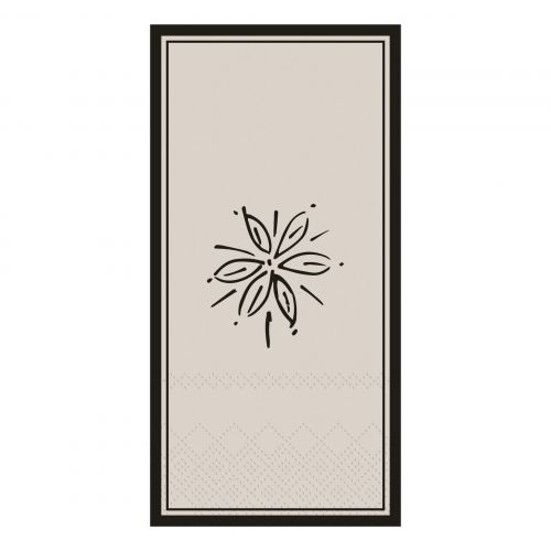 Chic Antique / Papierové servítky Flower French Grey 16 ks