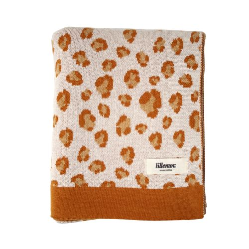 EEF lillemor / Detská deka z organickej bavlny Brown Leopard 100x80cm