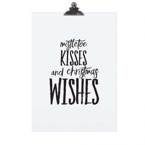 TAFELGUT / Plagát Mistletoe Kisses 30x42 cm