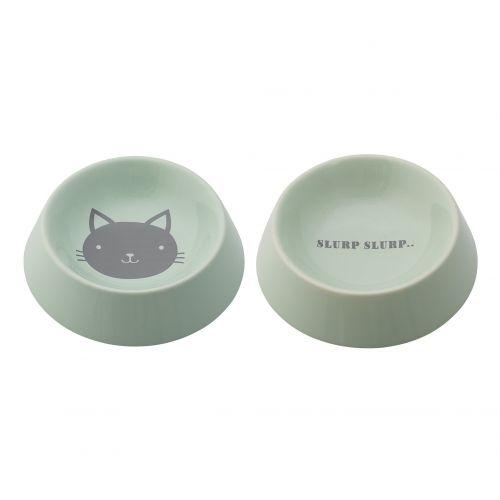 Bloomingville / Miska pro kočky Dusty mint 200 ml
