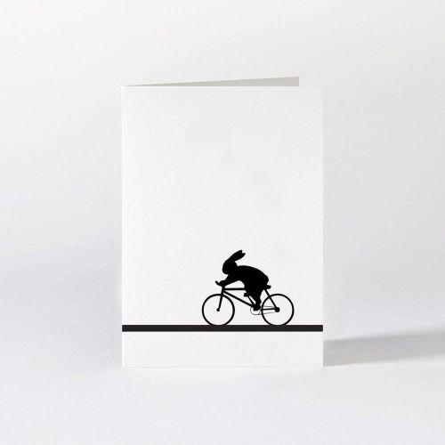 HAM / Čierno-biele prianie Bike Racing Rabbit
