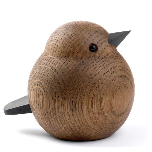 novoform / Drevený vtáčik Mama Sparrow Smoke Stained Oak