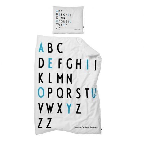 DESIGN LETTERS / Detské obliečky Letters Turquoise 100x140