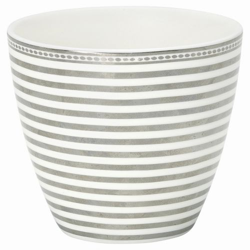 Green Gate / Latte cup Stripe silver