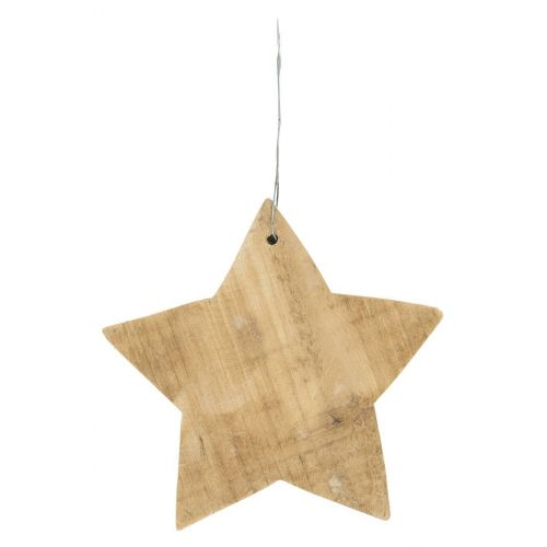 IB LAURSEN / Drevená závesná hviezda Wood 14 cm
