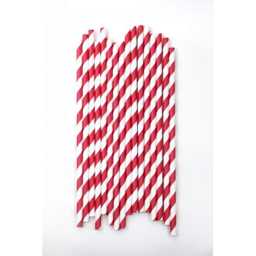 Ball / Červeno-biela retro slamka 1 ks