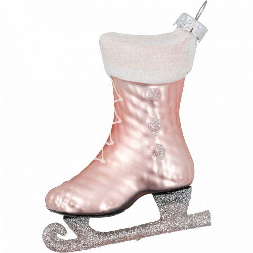 GREEN GATE / Sklenená vianočná ozdoba Ice Skate Pale Pink
