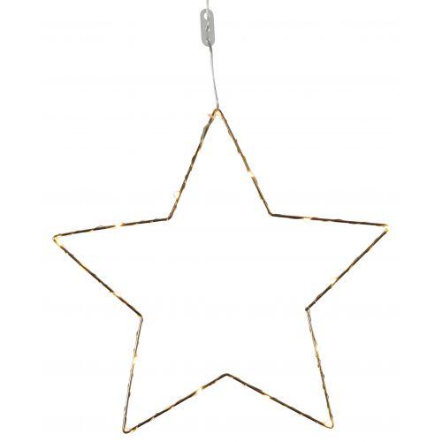 STAR TRADING / Kovová svietiaca hviezda Brass