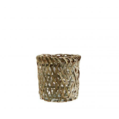 MADAM STOLTZ / Bambusový obal na kvetináč Bamboo & Glass