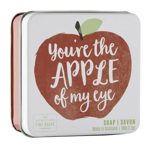 SCOTTISH FINE SOAPS / Mydlo v plechovej krabičke Apple