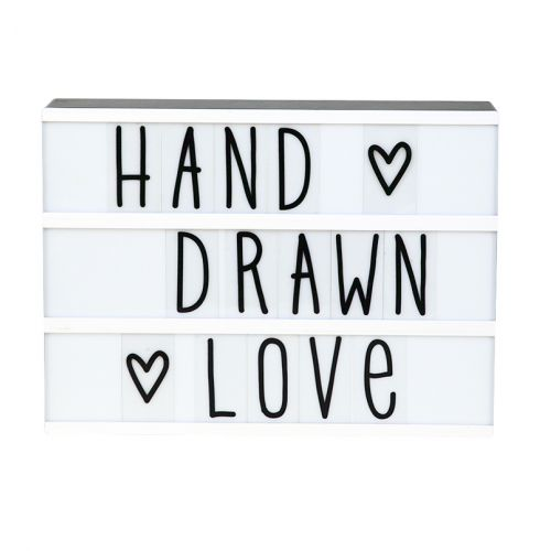 A Little Lovely Company / Set písmenok pre Lightbox Hand Drawn