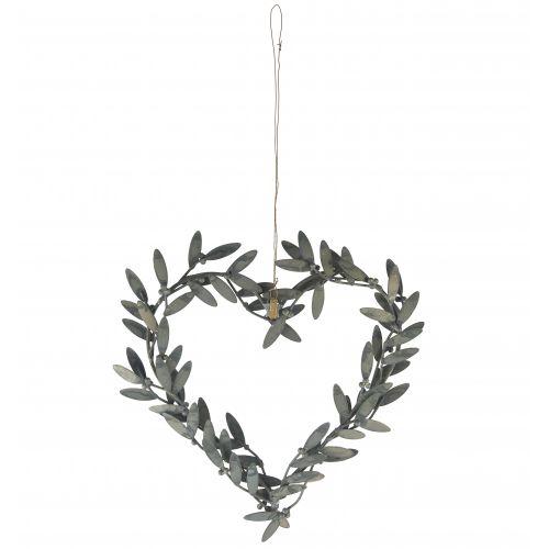 IB LAURSEN / Závesné kovové srdce Mistletoe leaves