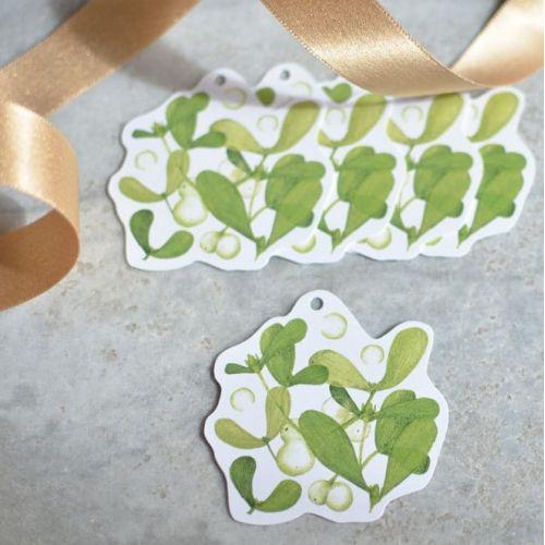 MANKAI Paper / Vianočné ceduľky Imelo - 5ks