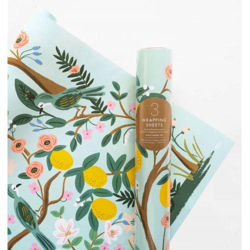 Rifle Paper Co. / Baliaci papier s kvetinami Shanghai Garden - 3 listy