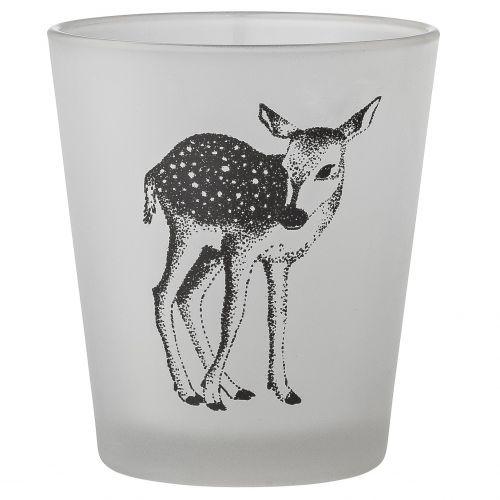Bloomingville / Sklenený votívny svietnik Glass Deer