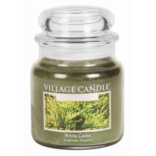 VILLAGE CANDLE / Sviečka v skle White Cedar - stredná