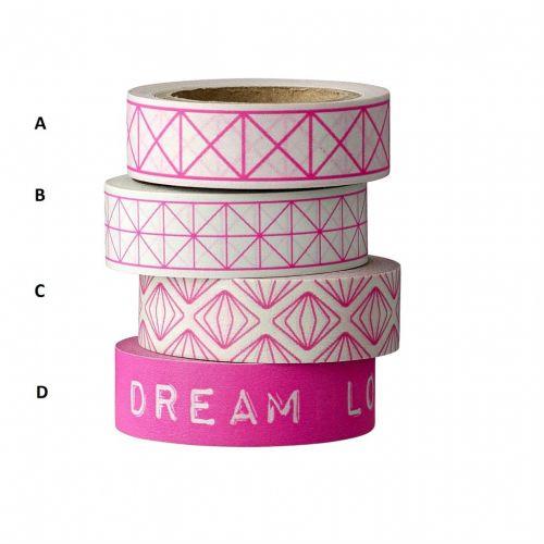 Bloomingville / Designová samolepiaca páska Pink neon